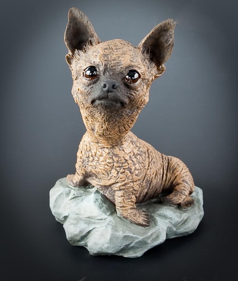 Stone Animal Figures : Stone resin animal mishap figurines